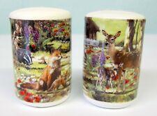 All Creatures Great & Small Deer Badger Squirrel Foxes Salt & Pepper Cruet Set