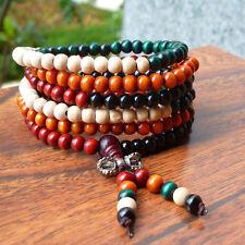 216pcsRouges perles de bois de santal de prière thaïlandais bracelet authentique