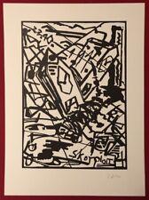 Werner Büttner, Skorpion, Linolschnitt, 1984, handsigniert und datiert