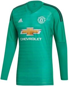 Adidas Manchester United MU GK goalkeeper jersey DT6015 2018 green MUFC