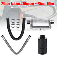 Exhaust Silencer+ Filter+Air Pipe+Clamp For Car Caravan RV Air Diesel