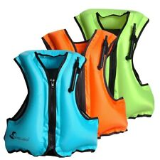Adult Life Jacket Inflatable Snorkeling Vest for Swimming Fishing Portable