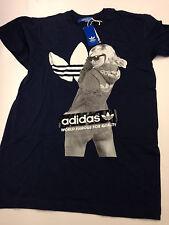 Adidas Originals Grafik GIRL T-Shirt, navyblau Gr. S - B-Ware