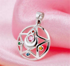 Sailor Moon Moon Prism Pendant Necklaces 925 sterling Silver Cosplay Anime Gift