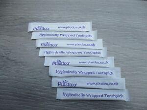 50 Genuine Plastico Individually Wrapped Plastic Toothpicks Dental Picks NEW