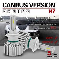 H7 200W 20000LM LED Headlight Bulb Conversion Canbus Kit 6000K White Hi-Lo Beam