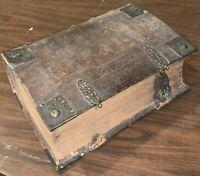 """1707, FOLIO, 14"""" x 9"""", BIBLIA, BIBLE IN GERMAN, FINE BINDING, CLASP, ILLUSTRATED"""