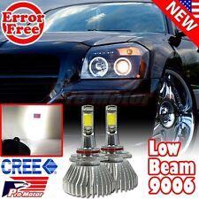 9006 HB4 Error Free CREE COB 5000K High Power Xenon Low Beam LED Headlight Bulbs
