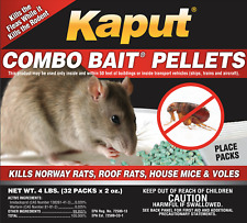 Rodent & Flea Killer Pellet Bait - 32 Packs Kills Rats & Mouse their Fleas!