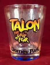 Talon The Grip Of Fear Clear Shot Glass Dorney Park Wings Colored Decals (O2)
