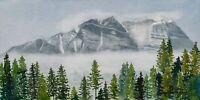 Canadian Rockies, Original Watercolor, Signed & Framed