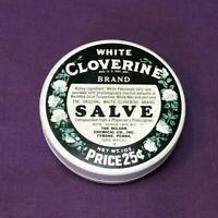 * Vintage Advertising Tin WHITE CLOVERINE SALVE Cody Wyoming