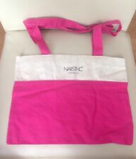 Nails Inc Canvas Tote Shoulder Bag Pink And Cream Brand New