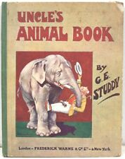 Uncle's Animal Book - Written & Illustrated by G E Studdy  w/ 8 Color Plates