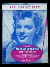 TROLLEY SONG 40's Film sheet music-MEET ME IN ST LOUIS-Judy Garland,Mary Astor