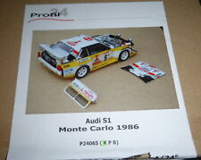 PROFIL-24 P-24065-K AUDI S1 1986 MONTE CARLO RESIN 1/24 MODEL CAR MOUNTAIN