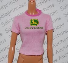 NEW Barbie John Deere Doll Pink Tshirt Shirt Model Muse Replacement Loose