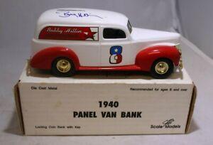 ERTL Diecast 1:25 1940 Panel Van Bank Bobby Hillin #GD-6040 SIGNED