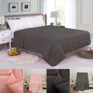 FURZON Weighted Blanket Sensory Sleep Therapy Anxiety Kids/Adults Pink Grey