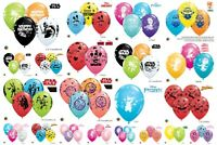 "5 Licensed Character 11"" Helium/Air Latex Balloons Children's Birthday Party"