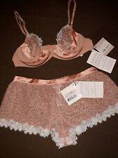 LA PERLA Macrame Poem Set Underwire Bra (34B) And Culotte (XS) Nude MSRP$1080