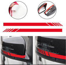 Mercedes Benz amg Red Side Rear View Mirror Stripes Decal Sticker A45 CLA C63 E6