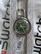 Swatch CD Rack Watch PUB101 1996 Pop 39mm Alarm Desktop Holder