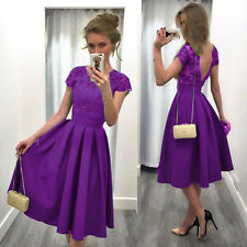 S Size Women's Lace Floral Prom Evening Party Bridesmaid Wedding Mini Dress