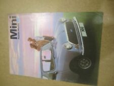 4 x Austin Mini car brochures