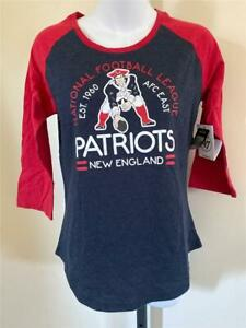 New New England Patriots Womens Size S Small Blue 3/4 Sleeve Shirt