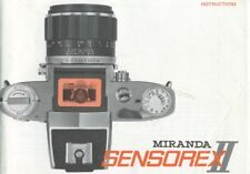 Miranda Sensorex Ii Instruction Manual