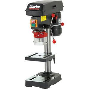 """Clarke CDP102B Bench Drill Press 5 speed 620 2620rpm 1.5"""" 13mm chuck+/- 45° tilt"""