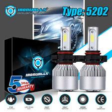 IRONWALLS 5202 H16 LED Headlight Bulb Kit 2000W 6000K Super Bright Fog light Car