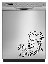 Chef Cook Decal Sticker for Dishwasher Refrigerator Washing Machine Stove Dorm