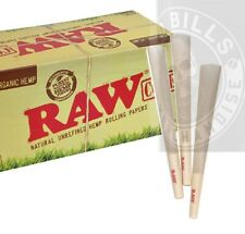 50 Pack - RAW Organic Hemp  King Cones Authentic Pre-Rolled Cones w/ Tip