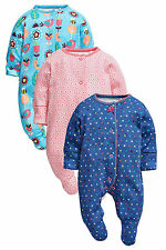 ВNWT NEXT Babygrows • Teal Bright Geo Floral Sleepsuits • 100% Cotton • 1 Month