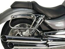 Triumph Rocket III Pipe leather bag holder Chrome BY HEPCO AND BECKER
