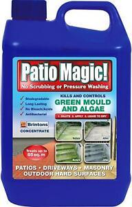 Patio Magic! Liquid Concentrate Mould, Algae & Moss Killer For Patios, Driveways