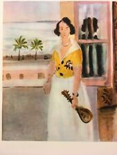Henri Matisse,Mandolin Player Window,Rare,Vint,Offs.Lithograph 1939,Platesigned