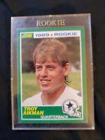 1989 Score Football #270 Troy Aikman Dallas Cowboys RC Rookie Mint