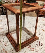 LARGE Antique Vintage Wood and Glass Display Cube Box GLASS ON SIX SIDES