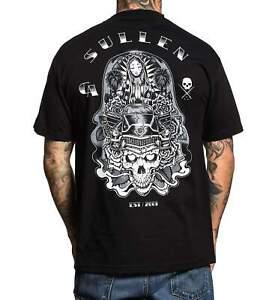 Sullen Art Co Ghost Rider Skull Car Mary LA Black Grey Tattoo T Shirt S-3XL UK