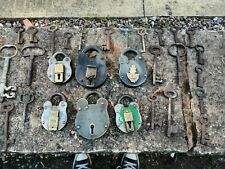 Vintage Padlock X6 And Key Collection Many