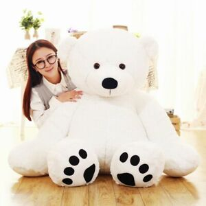 Plush Stuffed Toy White Polar Bear Animal Doll Large Children Doll Birthday Gift