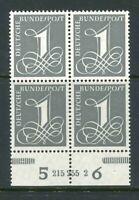 BRD Mi-Nr. 226y HAN - 4er Block mit HAN Nummer 215 255 2 - postfrisch **