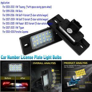 LED Number License Plate Lights For Porsche Cayenne VW Tiguan Touareg Golf 4 5