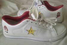 Converse one star White Super Mario Shoes Sneakers Nintendo NES US 8 26cm