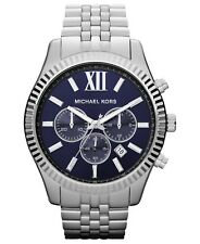 Michael Kors Men's MK8280 Lexington Chronograph Blue Dial Stainless Steel Watch