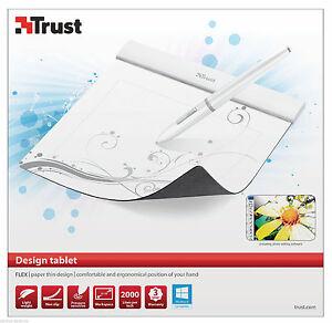 "TRUST 16937 FLEX DESIGN 6"" x 4.6"" DRAWING GRAPHICS PAD TABLET, 2 YEAR WARRANTY"