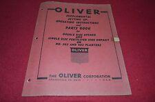 Oliver Tractor Disc Operners For 202 402 Planter Dealer's Parts Book Manual Bvpa